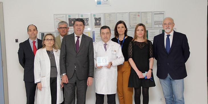 Descubrimiento de la placa de la Acreditación QH** de la Fundación IDIS en el Hospital de Manises