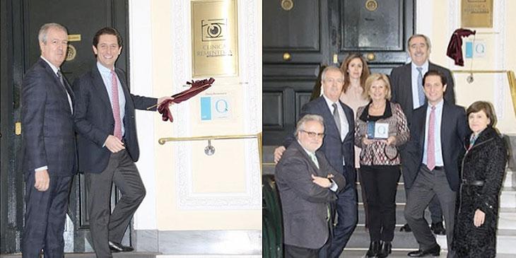 Descubrimiento de la placa de la Acreditación QH de la Fundación IDIS en la Clínica Rementería de Madrid