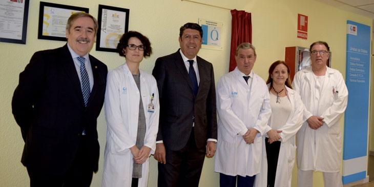 Descubrimiento de la placa de la Acreditación QH* de la Fundación IDIS en el Hospital Príncipe de Asturias de Alcalá de Henares